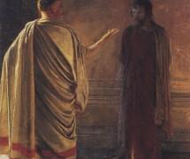 Что есть истина? Христос и Пилат. Н. Ге. 1890 г.