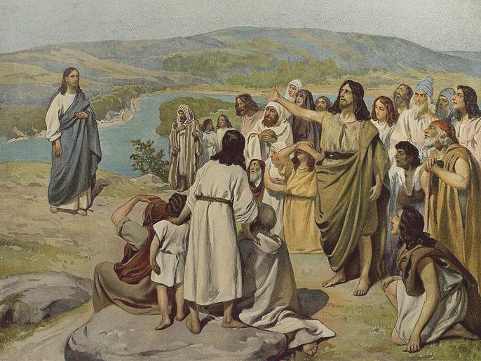 Явление Иисуса Христа народу. К. Лебедев.