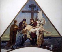 Снятие с креста. В. М.  Васнецов 1888-1901 гг. Эскиз мозаики храма Воскресения Христова (Спаса-на-Крови)